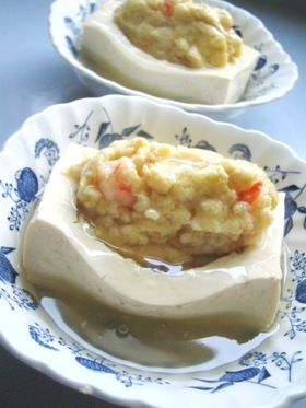 豆腐カップで卯の花蒸し