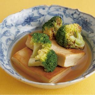 高野豆腐とブロッコリーのだしびたし
