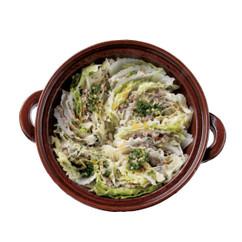 白菜とひき肉の中華風蒸し鍋