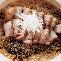 豚バラの高菜風味土鍋ご飯