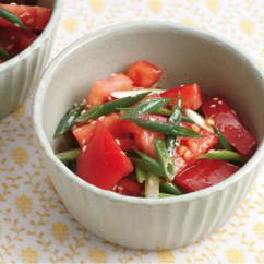 トマトと万能ねぎのナムル