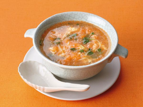 おろしにんじんの中華風スープ