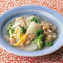 白菜と帆立てのとろみ煮