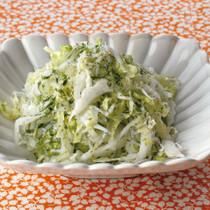 白菜としらすの青のり風味サラダ