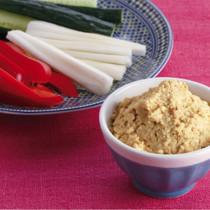 豆腐のカレーみそディップ