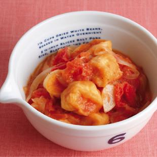 焼き麩のトマト煮