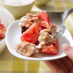 豚しゃぶとトマトのゆずこしょうマリネ