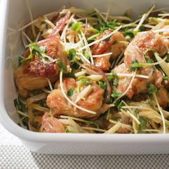 鶏肉と香味野菜のみそ風味マリネ