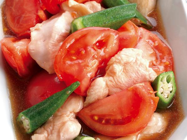 トマトと鶏肉の和風煮