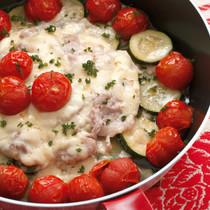 豚肉と夏野菜のチーズ蒸し