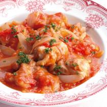鶏肉の簡単トマト煮