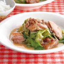 鶏肉とレタスの塩とろみ炒め