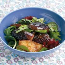 揚げ焼きなすの黒酢サラダ