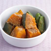かぼちゃとしし唐のごま酢煮