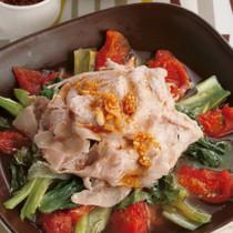 トマトと豚肉のレンジ蒸し