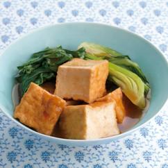 厚揚げと青梗菜のオイスターソース煮