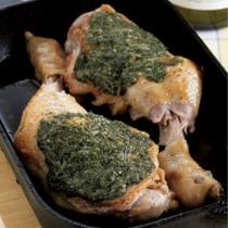 骨つき鶏のパセリソース焼き