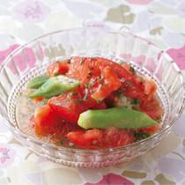 トマトとオクラの和風マリネ