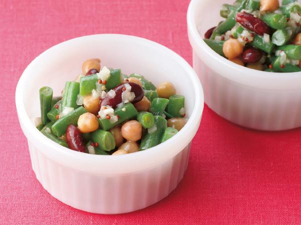 いんげんと豆のサラダ