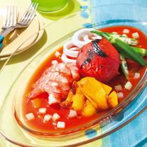 まるごとトマトのガスパチョ風サラダ
