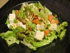 さっぱり、豆腐入りサラダ