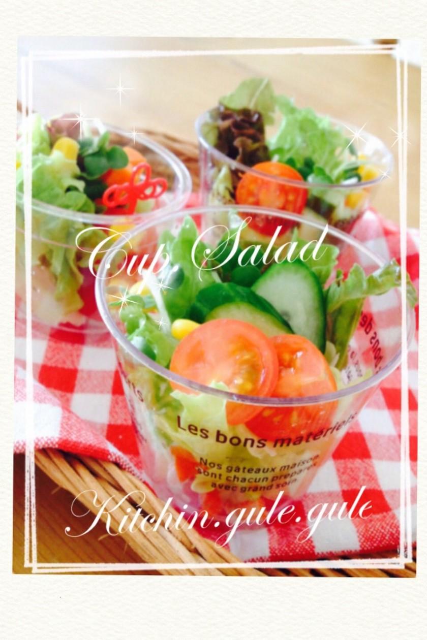 お弁当やパーティーに♡カップでサラダ