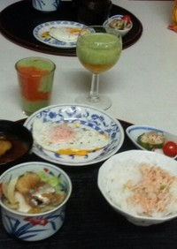 血管プラークダイエット食48(目玉焼き)