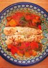 ささ身のソテー♡野菜のトマト煮込みソース