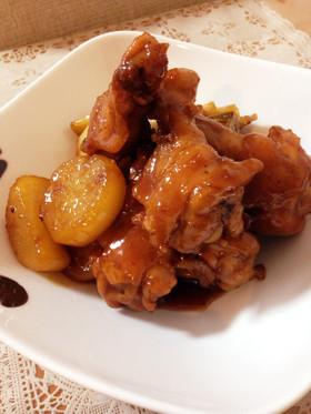 照り照り♡鶏手羽と大根のこっくり煮