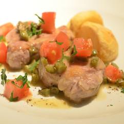 豚ヒレ肉のピクルスソテー