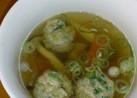 簡単リメイク!餃子のタネで極旨スープ