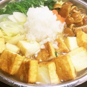 寄せ鍋のスープde簡単♪みぞれ鍋☆雪見鍋