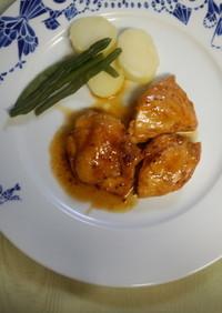鶏胸肉のメープルマスタードソース焼き