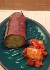 焼き芋とキムチ、一緒に食べるだけ!