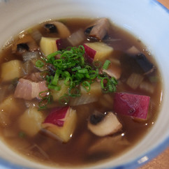 さつまいもとマッシュルームのナチュラルスープ