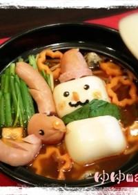 デコ鍋☆雪だるまのスンドゥブチゲ鍋