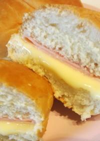 ディナーロールでハムチーズサンド