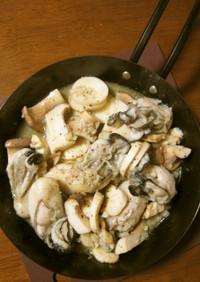 冷凍牡蠣のアヒージョソテー✿おつまみに