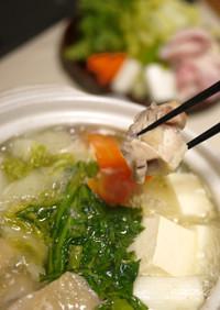 【スープも絶品!】信州黄金シャモの水炊き
