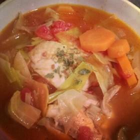 食べる♪チキンと野菜のトマトスープ