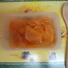 レンジ3分♪柿のフルーティーコンポート