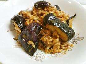 茄子と挽肉の味噌炒め