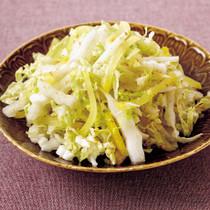 白菜とたくあんの白ごまサラダ