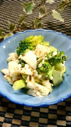 簡単副菜☆たたき長芋ブロッコリーのサラダ
