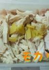 ストック食材★鶏むね*レンジ蒸し鶏♪
