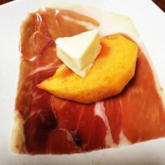 生ハムとチーズと柿のおつまみ☆
