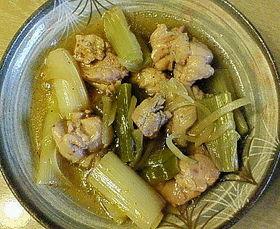 鶏肉と長ねぎのあっさり煮
