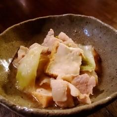 豚バラとネギと厚揚げのあったか♡生姜煮
