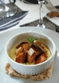 鮭のメープル照り焼きココットカマン