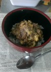 鰯の煮物をリメイク、鰯の卵とじ丼